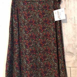 LuLaRoe XL Multicolored Azure Skirt NWT